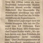 Potsdam gibt Geld fürs Jagdschloss Stern