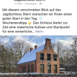 Das Jagdschloss Stern auf Facebook