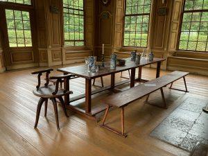 Rekonstruktion einer Jagdtafel im Saal des Jagdschlosses Stern zum Tag des offenen Denkmals 2021